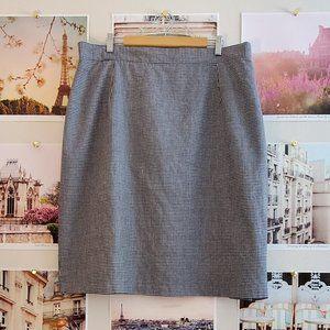 Encore Vintage 80s Gingham Pencil Skirt
